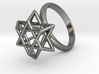 Hexagram Ring 3d printed