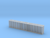 1:87 Plattform Container 2x 20ft + 2x 40ft 3d printed