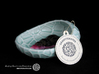 Flat porcelain Soap Dish in Water-Look 3d printed Gloss Celadon Green