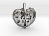Steampunk Heart Pendant 3d printed