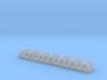 1/16 Hetzer tarp hoops. (Detailed) 3d printed