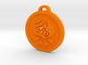 Psychonauts Pyrokinesis Badge Keychain 3d printed