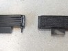 Oil cooler for the 1/8 MP4/4 Kyosho/DeAgostini mod 3d printed original part (left) vs. printed part, painted (right)