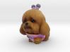 Alien Poodle 3d printed Full Color Sandstone