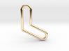 Aussie Boomerang Tubular Pendant 3d printed