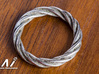 Möbius strip Ring-01#8 3d printed StanlessSteel Output is not detail enough . Please don't use this.