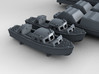 1/400 WW2 RN Boat Set 3 with Mounts 3d printed 3d render showing product detail