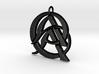 Monogram Initials AAC Pendant  3d printed