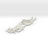 CK1 Chassis Kit for 1/32 Scale Small MagRacing Car 3d printed This is what you'll receive if ordered in white.