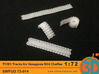 T72E1 tracks for Hasegawa M24 Chaffee 1/72 scale S 3d printed test print in FUD