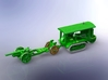 WWI Holt 75 Tractor w. 8in Howitzer Mk. VII 1/285 3d printed