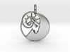 Astrology Zodiac Aries Sign 3d printed Astrology Zodiac Aries Sign in silver