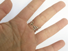 Ring Two Spikes - Elegant modern adjustable 3d printed Polished Solver