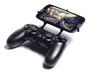 PS4 controller & Archos 50 Cobalt 3d printed Front View - A Samsung Galaxy S3 and a black PS4 controller