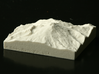 3'' Mt. Baker, Washington, USA, Sandstone 3d printed Photograph of physical print, looking at Mt. Baker from the South