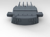 "1/570 HMS King George V 14"" Turrets 1941 3d printed 3d render showing product detail (A Turret)"