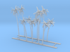 Palm Trees Z Scale 3d printed 10 Palm Trees Z scale