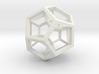 4D Dodecahedron 3d printed