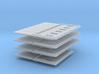 200-H0030: Set Of 4 Jet Blast Deflectors 1:200 3d printed