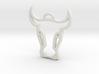 Bull Head Pendant 3d printed