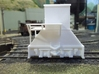 H0-scale Coker (LEFT-hand version) 3d printed Prototype print. The high platform has since been modified to fit the Walthers coke ovens better.