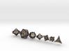 'Starry' Gaming Die Set + Decader (10D10) 3d printed