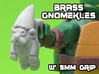 Brass Gnomeckles (5mm) 3d printed White strong and flexible print, shown w' primer for visibility.