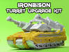 IronBison Turret Upgrade Kit 3d printed White strong and flexible print, hand painted.