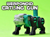 Catling Gun (Lion/Tiger) Transforming Weaponoid  3d printed White strong and flexible print, hand painted.