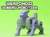 Dobergun Blitzer Transforming Weaponoid Kit (5mm) 3d printed White strong and flexible print, hand painted.
