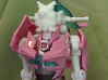 Elita One head for First Edition Prime Arcee 3d printed lo res test print from my 3d printer