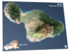 Maui Map, Hawaiian Islands 3d printed