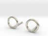 minimal stud earrings 3d printed