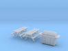 HO Scale BBQ+Picnic Benches 3d printed