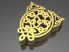 Celtic Broach Animal Knot 3d printed