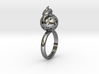 Dolphin Moon Ring 3d printed