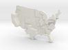 USA by Population 3d printed