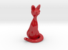 Cat Seated (Five Inches Tall) 3d printed
