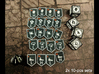 KDM Injury Tokens (10 pcs) 3d printed Two sets. Pic courtesy of BGG user sharkeyx