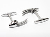 Claws cufflinks 3d printed cufflinks in sterling silver.