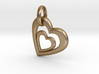 Heart in Heart Pendant 2 3d printed