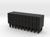 BP1-30, Square Cable Barrier Posts, 30 pcs 3d printed