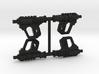 "PRHI Kenner Scout Pistol 3 3/4"" Sprue of 4x 3d printed"