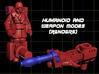 Rocket Jump Transforming Weaponoid Kit (5mm) 3d printed Render of figure in both modes.