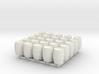 25 N/OO Scale Wine Barrels 3d printed