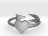 Arrow with one heart ring 17mm 3d printed