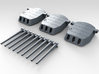 """1/600 16""""/45 MKI HMS Nelson Turrets 1927 3d printed 3d render showing set"""