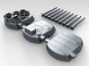 """1/350 16""""/45 MKI HMS Nelson Turrets 1945 3d printed 3d render showing set"""