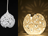 Snowflower Votive Candle Holder / Hang Light  3d printed votive and hanging light