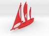 Crimson Corsair Ship 3d printed